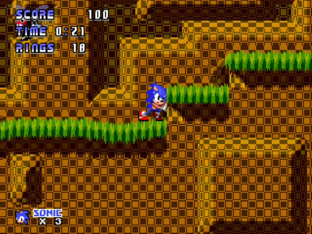 Sonic 1 - Code Gray  - Level  - Green Hill Zone Act 1 - User Screenshot