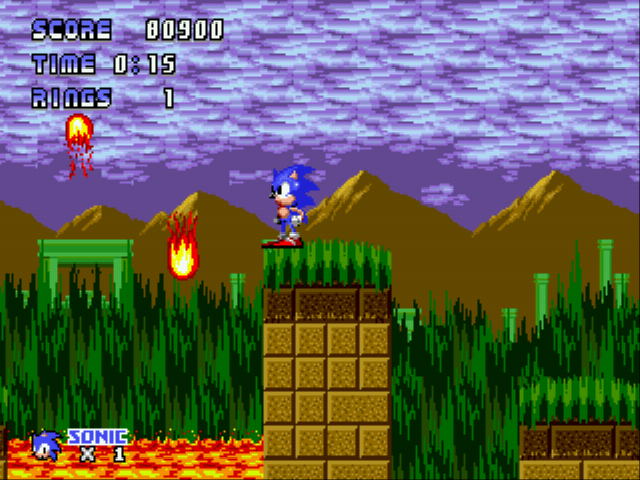 Sonic 1 - Code Gray  - Level  - Marble Zone Act 1 - User Screenshot