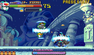 Mega Man 2: The Power Fighters (USA 960708) - Battle  - TWO ARMORED ARMADILLOS!? - User Screenshot