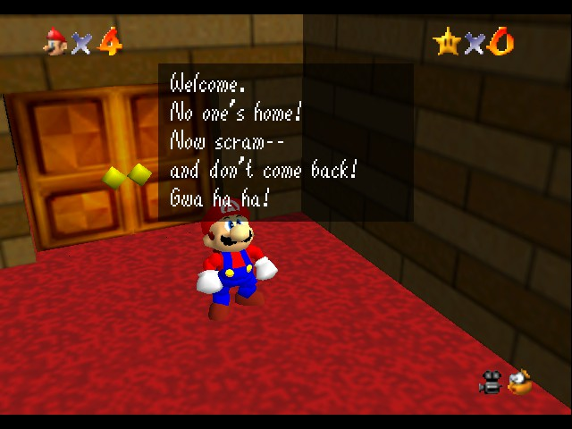 Super Mario 64 - Introduction  - Wow, a Evil Talking Cake. - User Screenshot