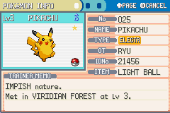 Pokemon Ultra Violet - Level  - shiny PIKA with LightBall EPIC !!! - User Screenshot
