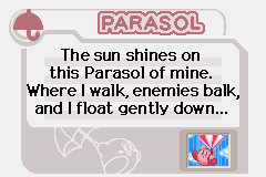 Kirby - Nightmare in Dream Land - Character Profile  - The Parasol! - User Screenshot
