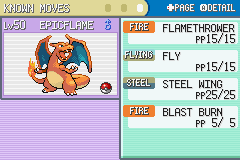 Pokemon Fire Red - Character Profile  - Beast Charizard! - User Screenshot