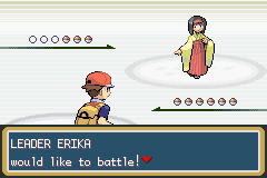 Pokemon Fire Red - Battle  - ERIKA! - User Screenshot