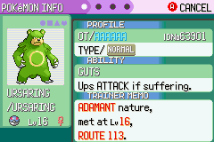 Pokemon Rebirth - Menus Pokemon Team - MAH FIRST SHINY!!!!! - User Screenshot
