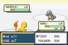 Pokemon Leaf Green - Battle  - What the heck!?! my starters a shiny! - User Screenshot