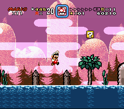 Super Mario World - Secret of the 7 Golden Statues - Level  - Love the look of this level! ^^ - User Screenshot