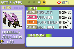 Pokemon Ruby Destiny - Life of Guardians - Character Select  - I caught a shiny gabrieleon! - User Screenshot