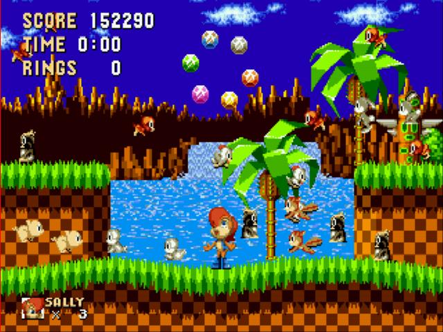 Play Sonic 2 Recreation Part One Rom Hack Game Online Sega Genesis