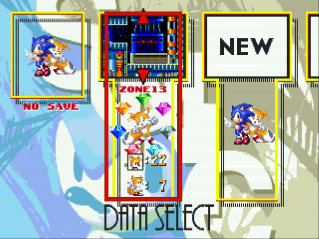 Sonic and Knuckles & Sonic 3 - Level Select  - Tails Play 100% finished - User Screenshot