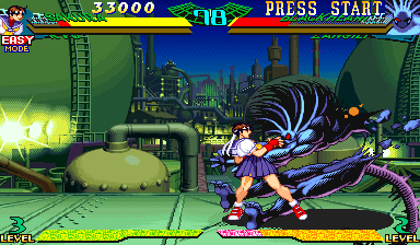Marvel Super Heroes Vs. Street Fighter (Euro 970625) - Battle  - I think I broke it - User Screenshot