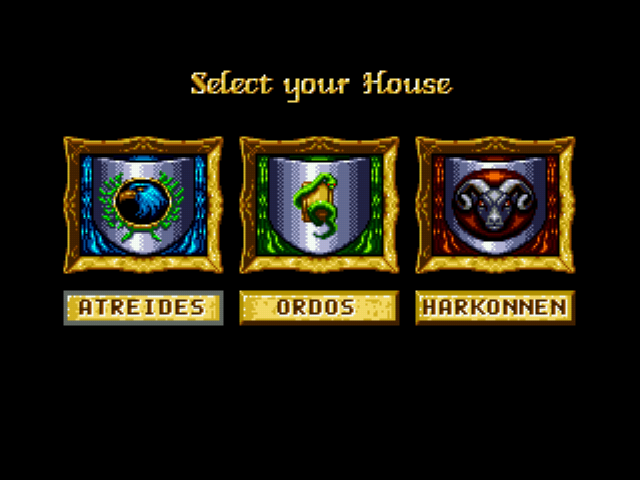 Dune - The Battle for Arrakis - Character Select  - House Select Screen - User Screenshot