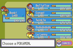 Pokemon Rebirth - Character Profile Nuzlocke - Team before E4. 6 dead. - User Screenshot