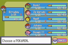 Pokemon Rebirth - Character Profile Nuzlocke - Team before 1st leader (Roxanne). 1 dead - User Screenshot