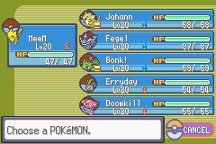 Pokemon Rebirth - Character Profile Nuzlocke - Team before 2nd leader (Brawly). 1 dead - User Screenshot