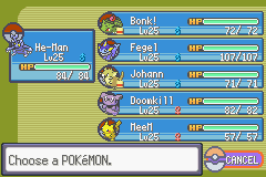 Pokemon Rebirth - Character Profile Nuzlocke - Team before 3rd leader (Wattson). 1 dead - User Screenshot