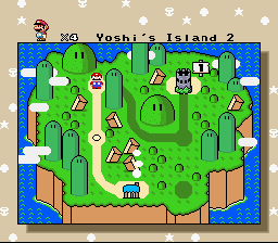 Super Mario World - Return to Dinosaur Land - World Map  - World 1- Yoshi