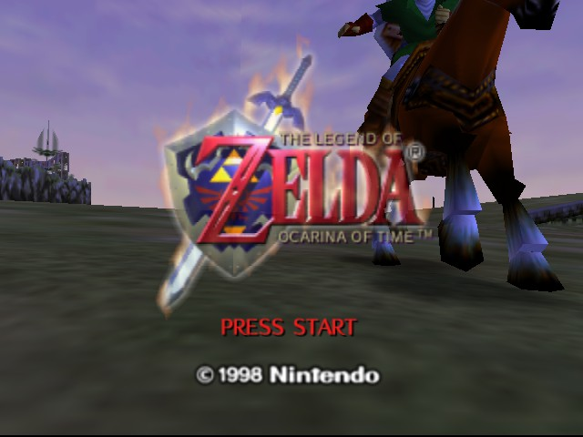 The Legend of Zelda - Ocarina of Time - Introduction  - Press Start. It