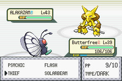 Pokemon Fire Red - Battle  - Last Pokemon Better Win. - User Screenshot