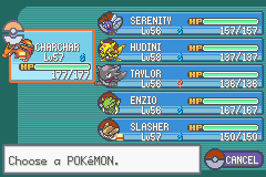 Pokemon Fire Red - Character Profile Team -  - User Screenshot