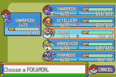 Pokemon Rebirth - Character Profile pokemon - my team - User Screenshot