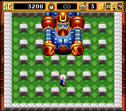 Super Bomberman 2 - Stage 1-7 Boss - User Screenshot