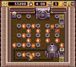 Super Bomberman 2 - Stage 2-1 - User Screenshot
