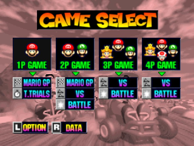 Mario Kart 64 - Menus Game Select - 2P on is impossible to play - User Screenshot