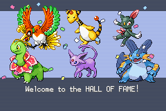Pokemon Shiny Gold - Ending  - yay... - User Screenshot