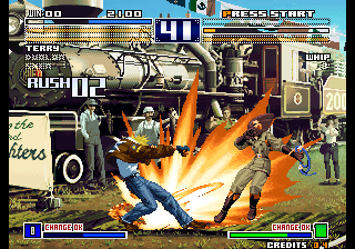 The King of Fighters 2003 (NGM-2710) - Level  - Ahhh you Okaaay??? BUSTAAAAH WOOOLF!!! - User Screenshot