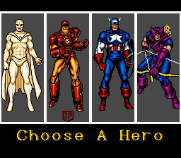 Captain America & The Avengers - Character Select  - Pick the guy you