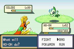 Pokemon Shiny Gold - Battle  - Finding Celebi! - User Screenshot