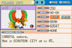 Pokemon Shiny Gold - Battle  - Caught HO-OH with a Pokéball! - User Screenshot