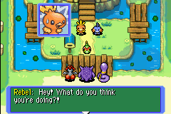 Pokemon Mystery Dungeon - Red Rescue Team - Cut-Scene  - what is going on - User Screenshot