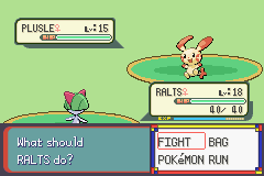 Pokemon Burning Ruby - Battle  - Ahh yeah the odds are in my favor - User Screenshot