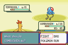Pokemon Burning Ruby - Battle  - My old rod found this no lie. - User Screenshot