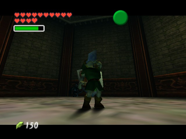 The Legend of Zelda - Ocarina of Time (Debug Edition) - link drinking nothing - User Screenshot