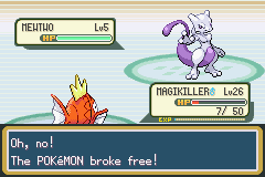 Pokemon Leaf Reborn  - Battle  - stupid mewtwo - User Screenshot