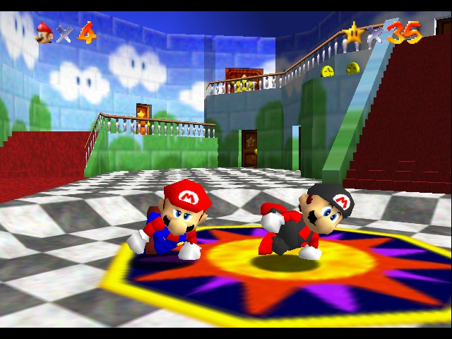 Super Mario 64 - Multiplayer - Mini-Game  - we doing yoga - User Screenshot