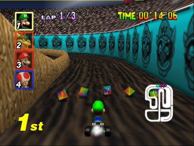 Mario Kart 64 - Level Wario Stadium - chuggin along - User Screenshot