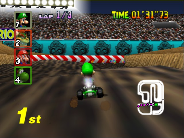 Mario Kart 64 - Level Wario Stadium - still going strong - User Screenshot