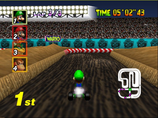 Mario Kart 64 - Level Wario Stadium - jump 2! - User Screenshot