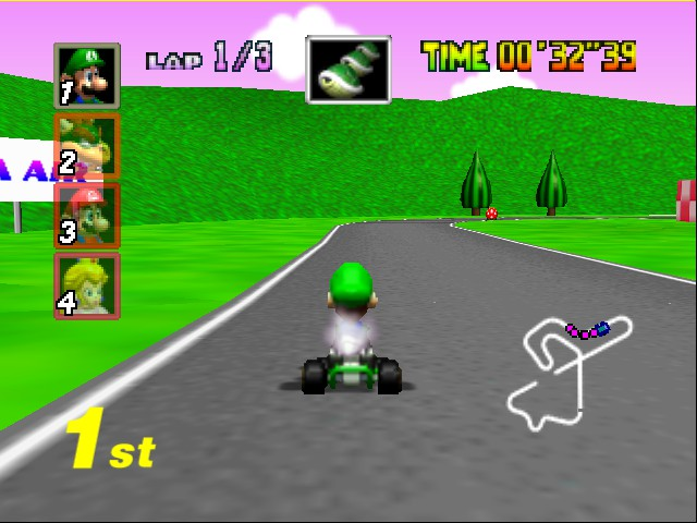 Mario Kart 64 - Level Royal Raceway - winning - User Screenshot