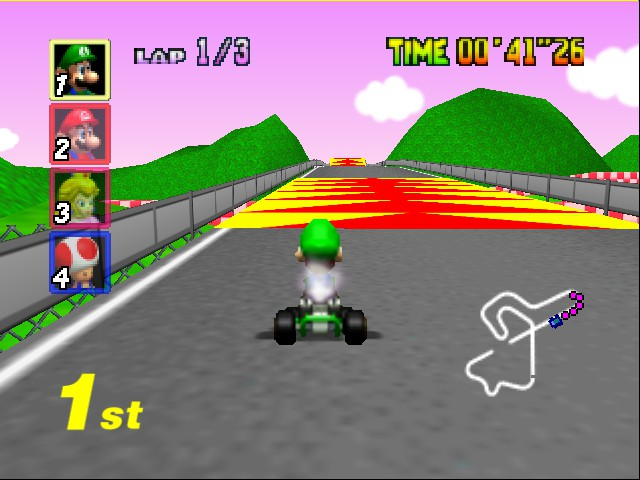 Mario Kart 64 - Level Royal Raceway - Here it comes.. - User Screenshot