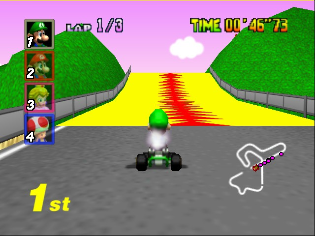 Mario Kart 64 - Level Royal Raceway - Get ready... - User Screenshot