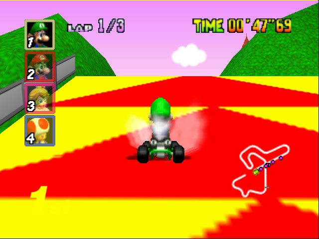 Mario Kart 64 - Level Royal Raceway - And... - User Screenshot