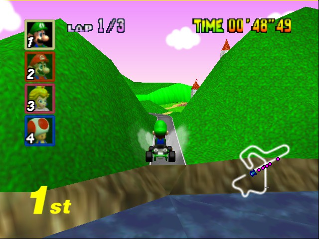 Mario Kart 64 - Level Royal Raceway - Liftoff!! - User Screenshot