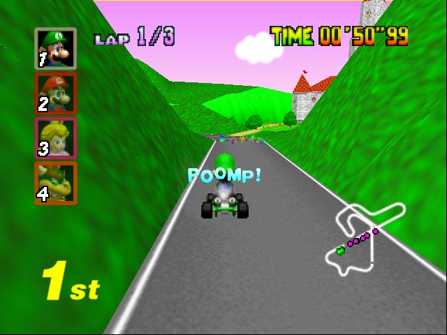 Mario Kart 64 - Level Royal Raceway - bounce landing! - User Screenshot