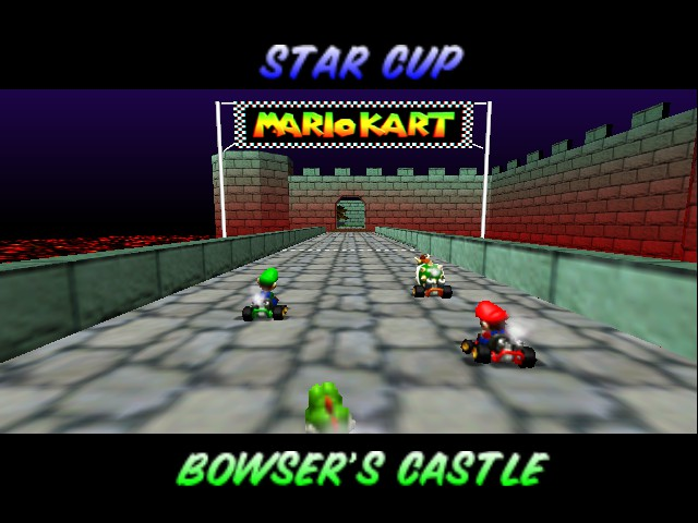 Mario Kart 64 - Level Bowser castle - The level that scared 4y/o me - User Screenshot