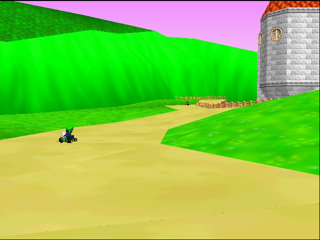 Mario Kart 64 - Ending  - our hero drives on - User Screenshot